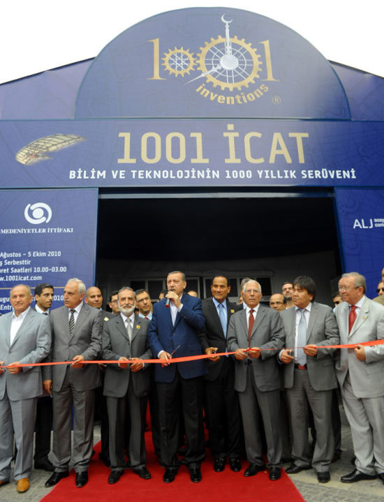 Turkish Prime Minister Erdogan opens 1001 Inventions exhibition in iconic and historic part of Istanbul