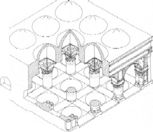 Source: Hillenbrand, R.(1994), 'Islamic Architecture; Form, function and meaning', Edinburgh University Press, p.79