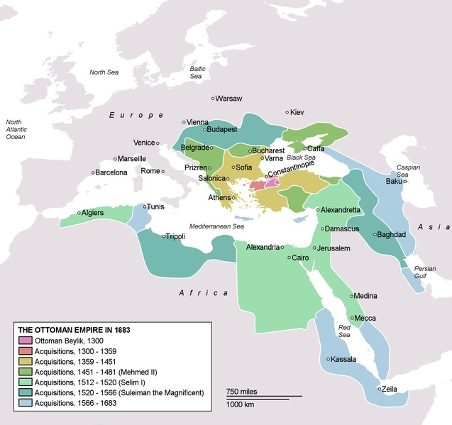 The Islamic Historical Literature Muslim Heritage - Historical outline map