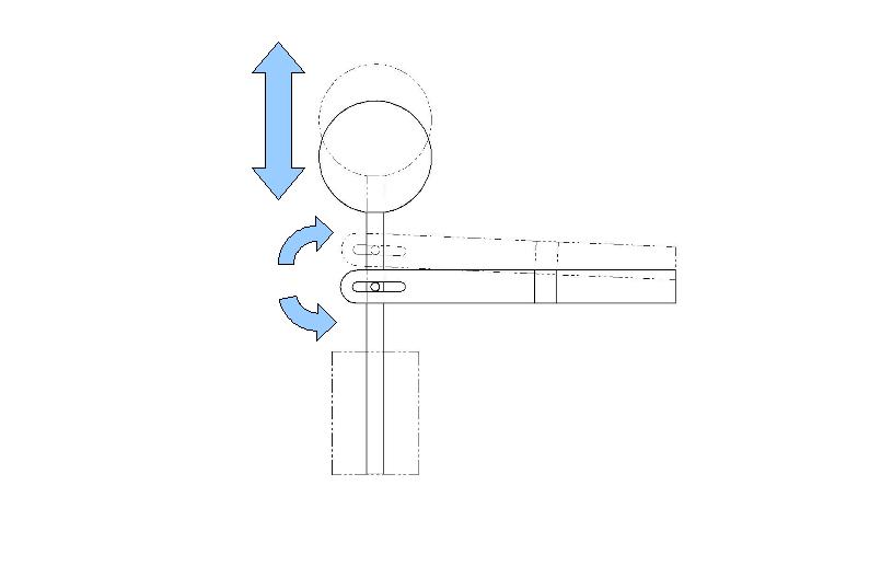 Figure 4: Slot mechanism converting arc to linear motion. © Joseph ...