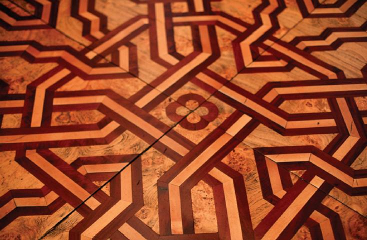 Figure 4: One of many Arabic designs of parquet floors at Kornik castle.