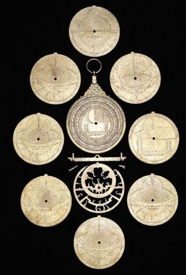 Parts of the astrolabe