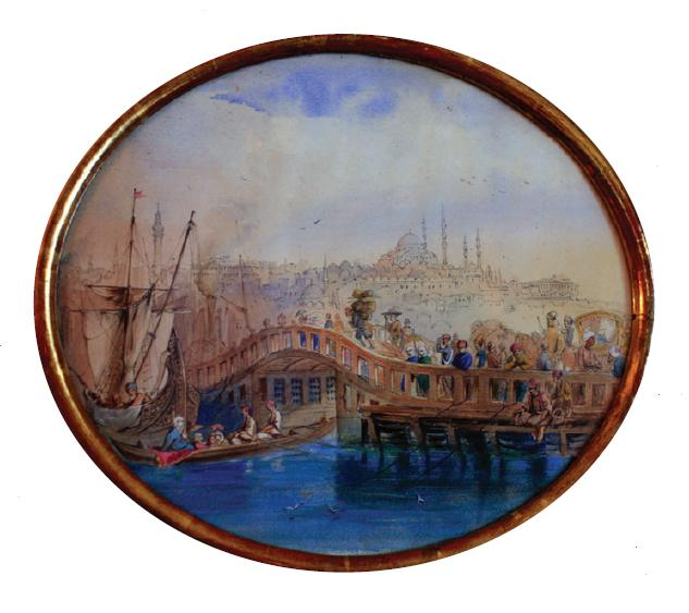 Figure 6: A watercolour painting of Istanbul by the daughter of T. Dzialynski.